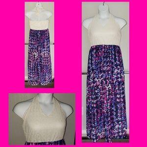POP of fab maxi halter dress